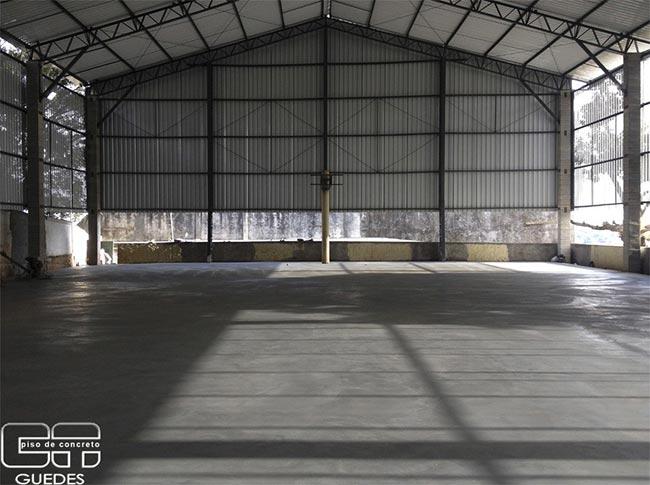 Concretagem piso Industrial