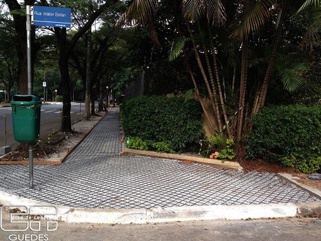Piso de concreto para calçada