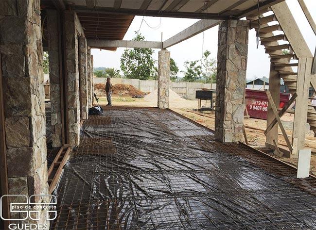 Piso de concreto polido para residências