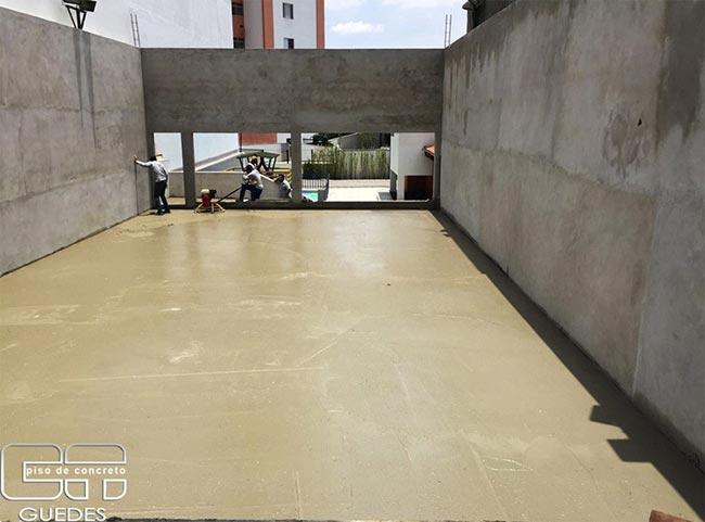Piso de concreto para quadra