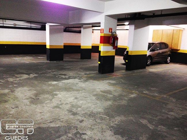 Recuperação de piso de concreto